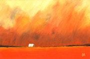 Orange sand storm.