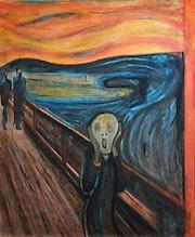 Versión libre de «el grito», de Edward Munch..