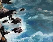 Cliffs in Brittany.