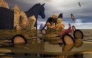 Jeux entre des chevaux et des cristaux: plasma 175.