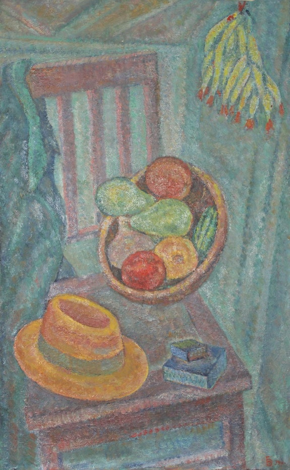 Still life with a straw hat. Bessmertniy Art Gallery Artplanet