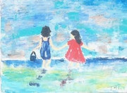 Enfants à la mer.