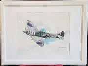 Supermarine spitfire mk Vb WinG commander B. Duperier 340 sqd. Forangeart F. Baldinotti Peintre De l'air