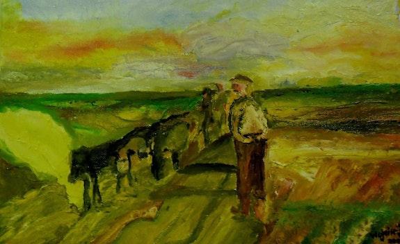 Scène agricole. Wojcik Jean-Pierre Jean-Pierre Wojcik