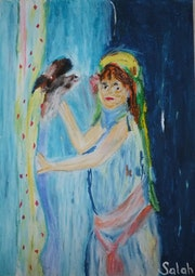 Femme avec un petit bec. Paris 14 (Kabyliens)