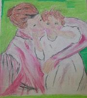 Mère et enfant. Paris 14 (Kabyliens)