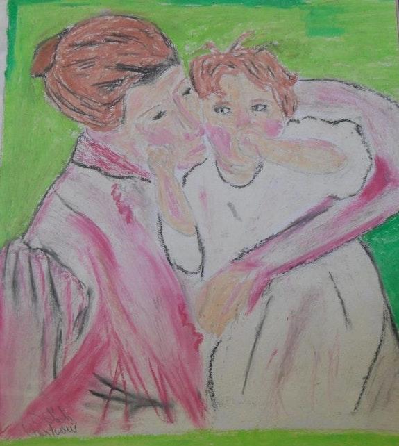 Mère et enfant. Salah Cherfaoui Paris 14 (Kabyliens)