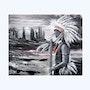 L'indien d'Amérique. Joelle Sieurin