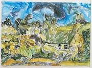 «Les chaumes de cordeville» - copie de Vincent. Arnaud Losse
