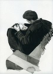 L'amour d'après une photo de Kurt Douglas.