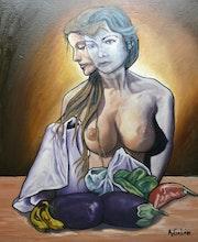 Desnudo con bodegón. A. Galän