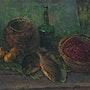 Still life with green bottle. Vasily Belikov