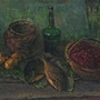 Still life with green bottle. Vasily Belikov