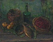 Still life with green bottle.