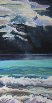 Soir d'orage sur l'océan.