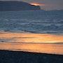 Un coucher de soleil rose et bleu. Mite02
