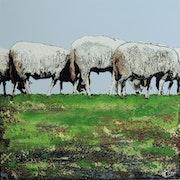 Moutons dans le Parc de Serravels à Porto.