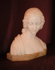 Bust in marble. Piety. José Cortina