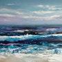 «Bleu turquoise» acrylique sur toile.
