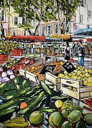 Les belles couleurs du marche d'aix en provence. Jiel