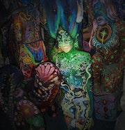 Yemanjà déesse des eaux d'Amazonie. Président De l'association Luz'in Art