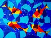 Joy Fish Abstract Painting.