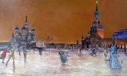 Red square skaters / le s patineurs de la Place rouge. Boussignac