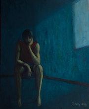 En la habitación azul.