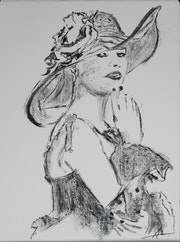L'Elégante en sa capeline Dolce Vita….