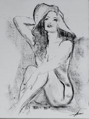 La Belle ingénue en sa capeline Riviera….