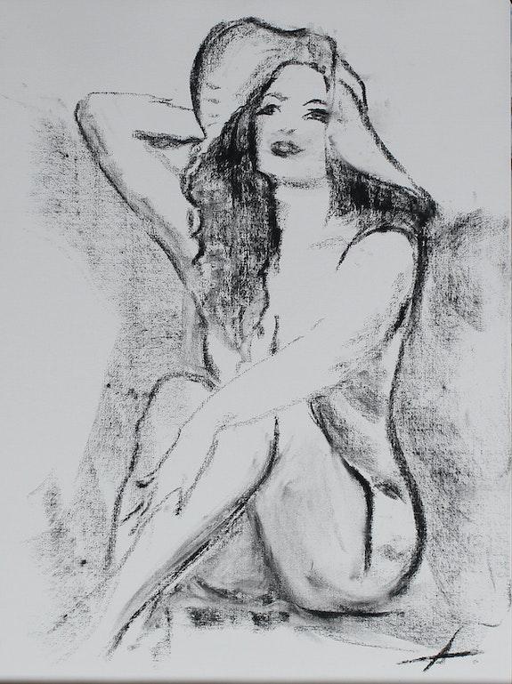 La Belle ingénue en sa capeline Riviera…. André Ayala Ayala Andre