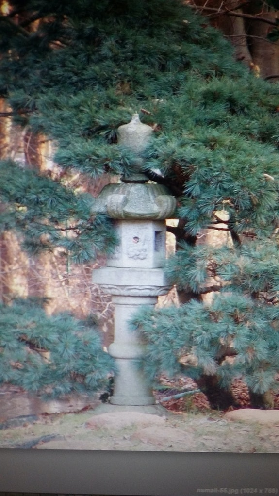 Antique japanese garden laterne of granites. H. P. Stumpen Hanns-Peter Stumpen