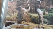 Cranes - pair-bronze. Hanns-Peter Stumpen