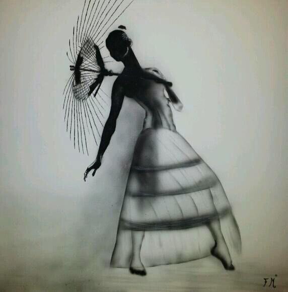 La danseuse et l'ombrelle. Franck Franck Mabriez