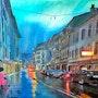 Vevey sous la pluie. Edgar Mabboux