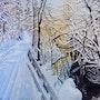 L'hiver au Québec aquarelle n°2. Françoise-Elisabeth Lallemand