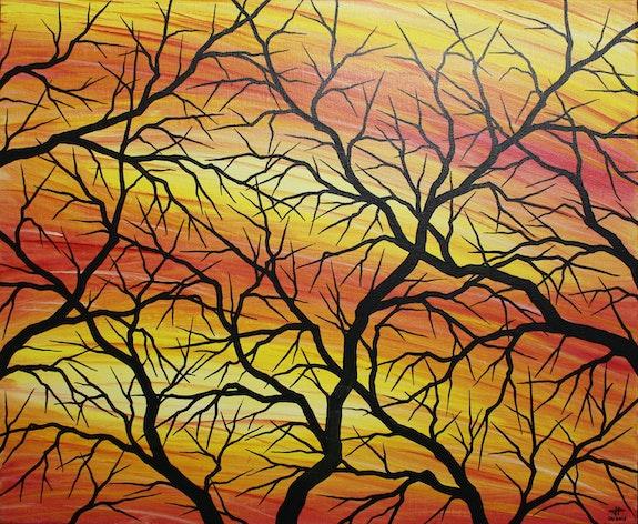 Contemporary painting : branches Silhouettes. Jonathan Pradillon Jonathan Pradillon