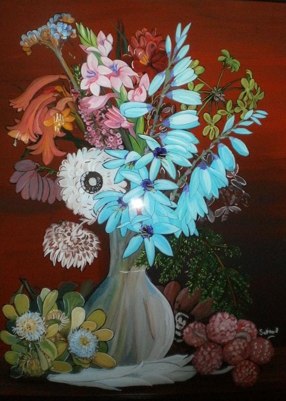 Peinture sous verre - Annie Saltel. Annie Saltel Annie Saltel