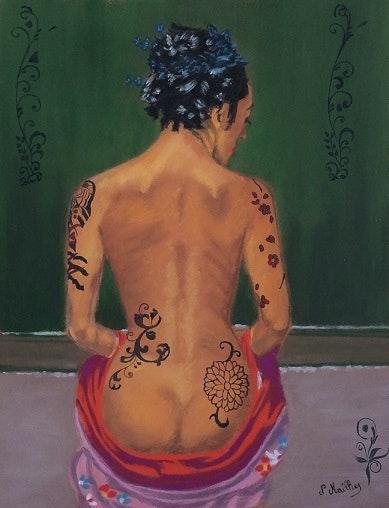 La femme aux tatouages. Nathalie Mailhes Nathalie Mailhes