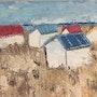 Cabines de plage en Normandie. Marie Agnès Leleu