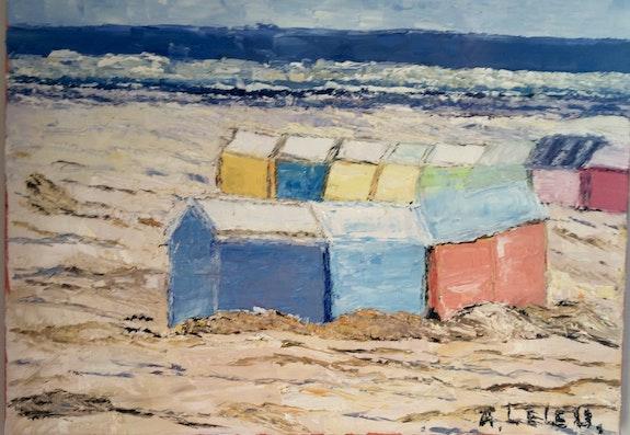 Cabines de plage du Nord de la France. Moi Marie Agnès Leleu