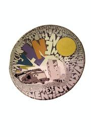 «Mardi16février2016» peinture acrylique sur parabole. Cmg1959