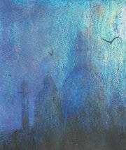 Domes in blue haze. George Hutton Hunter