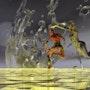 Danse crépusculaire autour d`un tourbillon d`eau: plasma 195. Lauferartsuisse