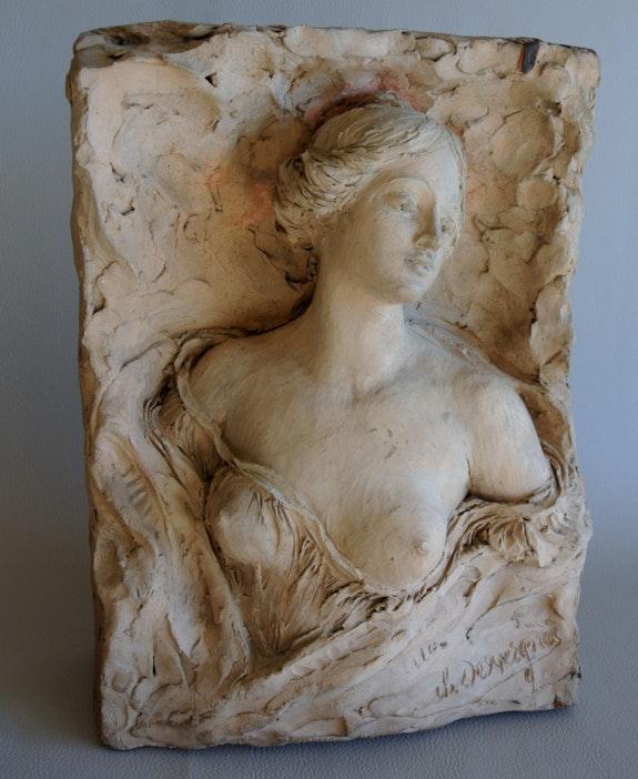 Buste féminin. Charles Desvergnes Marc Menzoyan Antiquités