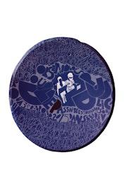 «Jeudi03mars2016» peinture acrylique sur parabole. Cmg1959