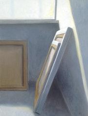 Pintura de una pintura, pintura al óleo sobre lino.. Hellamaas. Nl