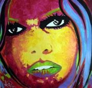 Pop Art, portrait de bb.