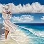 Walking on the Beach. Albert Kopper