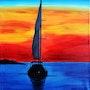 Floating in the Sunset. Albert Kopper
